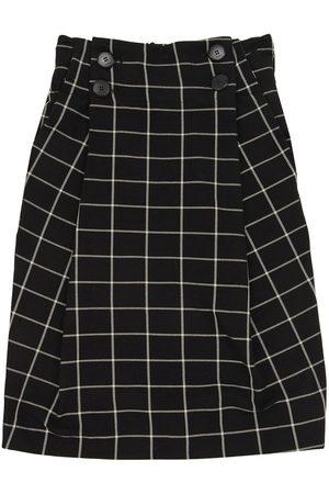 Unlabel Tytöt Printtihameet - Long Check Print Viscose Blend Skirt