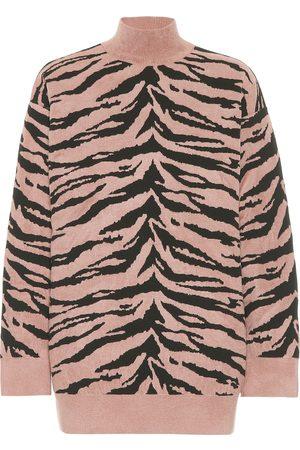 Alaïa Zebra jacquard turtleneck sweater