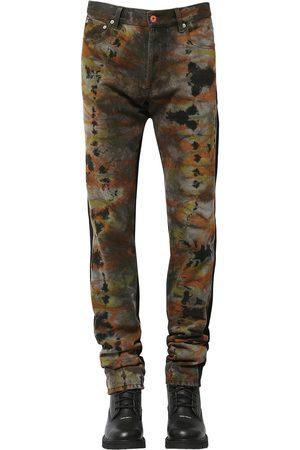 Heron Preston Miehet Solmiot - Regular Tie Dye Cotton Denim Jeans