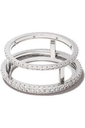 De Beers Naiset Sormukset - 18kt The Horizon full pavé diamond ring