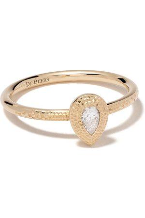 De Beers Naiset Sormukset - 18kt Talisman pear-shaped diamond ring