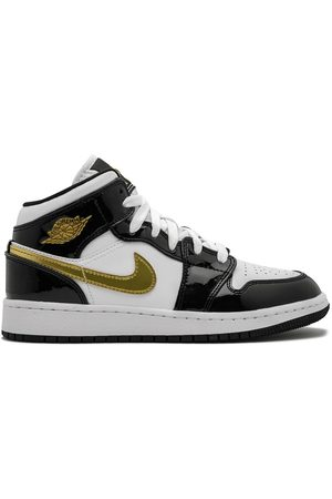 Nike Juhlakengät - Air Jordan 1 Mid SE (GS) gold patent leather