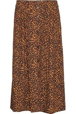 Just Female Coca Skirt Polvipituinen Hame Ruskea