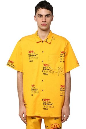 OFF-WHITE Industrial Printed Cotton Canvas Shirt