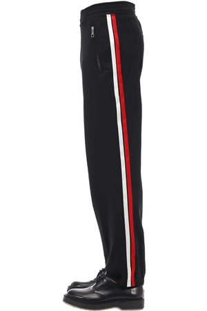 Neil Barrett Jogging Tech Pants W/ Satin Side Bands