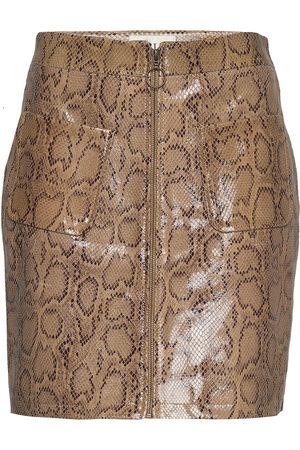 MAUD Animal Short Skirt Lyhyt Hame Beige