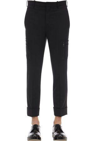 Neil Barrett Stretch Wool Gabardine Pants W/pockets