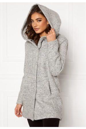 Only Naiset Villakangastakit - Sedona Boucle Wool Coat Light Grey Melange XS