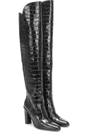 Max Mara Beboot croc-effect leather boots