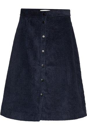 Just Female Corduroy Skirt Polvipituinen Hame Sininen