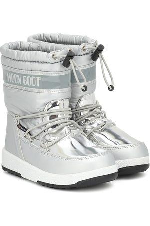 Moon Boot Metallic nylon snow boots