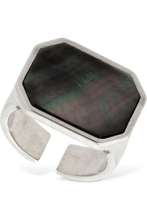 Isabel Marant Golden Mother Seashell Squared Ring