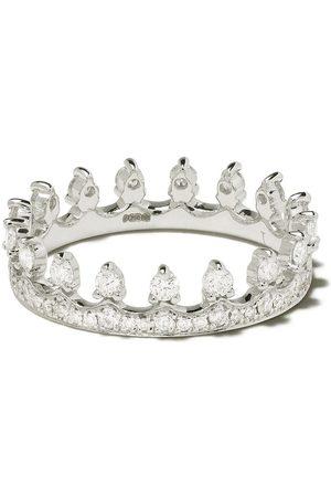 ANNOUSHKA Naiset Sormukset - 18kt white gold Crown diamond ring