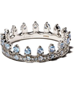 ANNOUSHKA 18kt white gold Crown sapphire ring