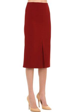 Victoria Beckham Bonded Crepe Midi Skirt