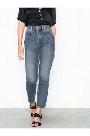 Selected Slffrida Hw Mom Mid Blue Jeans W No