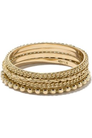 WOUTERS & HENDRIX Naiset Sormukset - 18kt gold four rings set