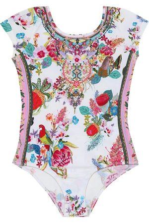 Camilla Floral stretch-cotton bodysuit