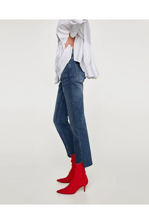 Zara THE SLIM HIGH WAIST JEANS IN SAMURAI