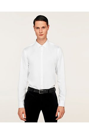 Zara TWILL SHIRT WITH SHORT POINT COLLAR - Available in more colours