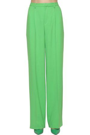 Ralph Lauren Naiset Leveälahkeiset - Wide Leg Light Wool Crepe Pants