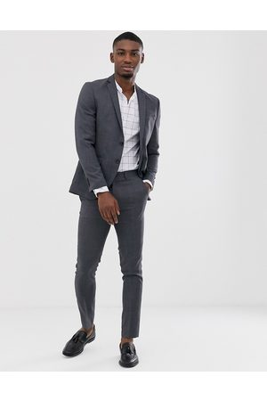 Jack & Jones Premium super slim fit stretch suit jacket in grey
