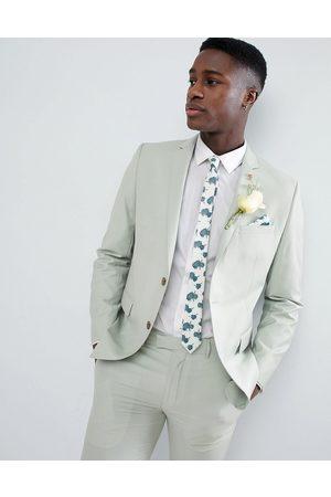 Farah Farah Skinny Suit Jacket In Green
