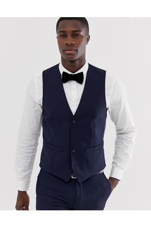 French Connection Slim fit plain waistcoat-Navy