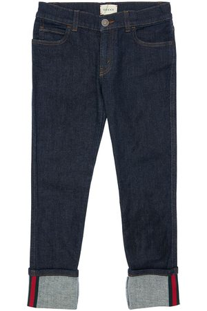 Gucci Tytöt Farkut - Stretch Cotton Jeans W/ Web Detail