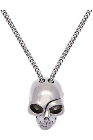 Alexander McQueen Chain Necklace W/ Divided Skull Charm
