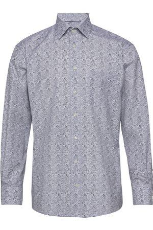 Eton Paisley Print Shirt Paita Bisnes Sininen
