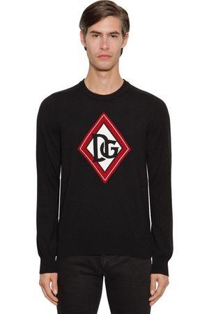 Dolce & Gabbana Miehet Neuleet - Dg Cashmere Intarsia Knit Sweater