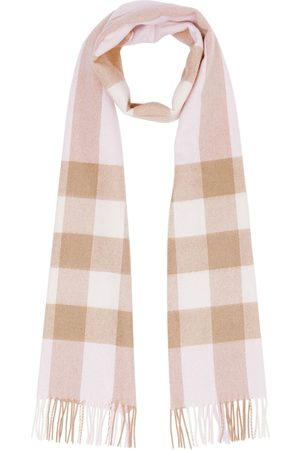 Burberry Check pattern cashmere scarf