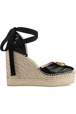 Gucci Naiset Sandaletit - Leather platform espadrille