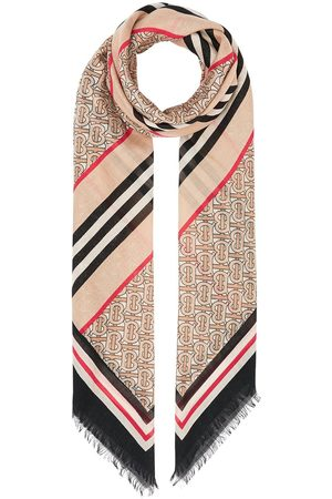 Burberry Icon Stripe Monogram scarf