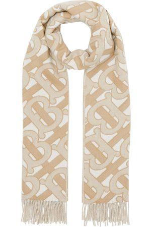 Burberry Monogram fringed scarf