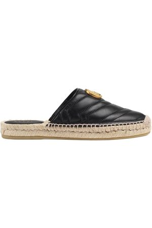 Gucci Naiset Espadrillot - Leather espadrille with Double G