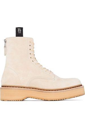 R13 Platform lace-up boots