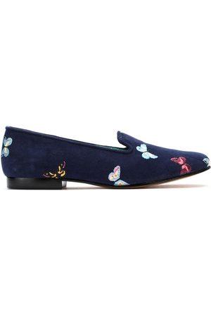 Blue Bird Shoes Suede Borboletas slippers