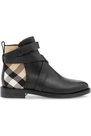 Burberry Naiset Nilkkurit - House check and leather ankle boots
