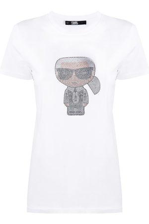 Karl Lagerfeld Ikonik rhinestone Karl T-Shirt