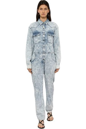 Isabel Marant Naiset Haalarit - Idesia Bleached Cotton Denim Jumpsuit