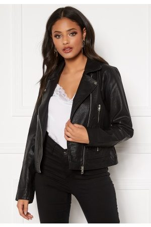 JACQUELINE DE YONG Naiset Talvitakit - Ilde Faux Leather jacket Black 36