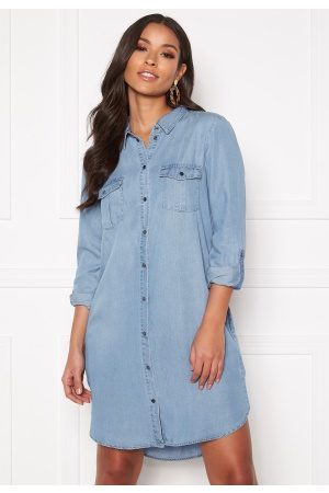 Vero Moda Silla LS Short Dress Light Blue Denim M