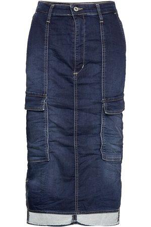 Please Cargo Skirt Polvipituinen Hame Sininen