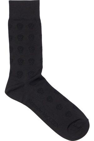 Alexander McQueen Miehet Sukat - Skull Silk Stretch Jacquard Socks