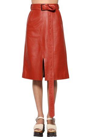 Marni Leather Midi Skirt