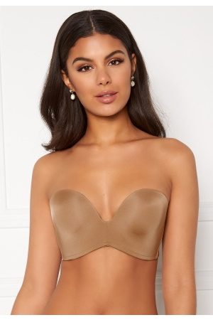 Wonderbra Naiset Push Up - Perfect Strapless Bra Golden tan 75A