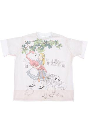 SCRAMBLED-EGO Tytöt T-paidat - Alice Print Jersey T-shirt W/ Tulle