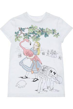 SCRAMBLED-EGO Alice In Wonderland Print Jersey T-shirt